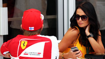Kimi Raikkonen (FIN) Ferrari with his girlfriend Minttu Virtanen (FIN) / XPB