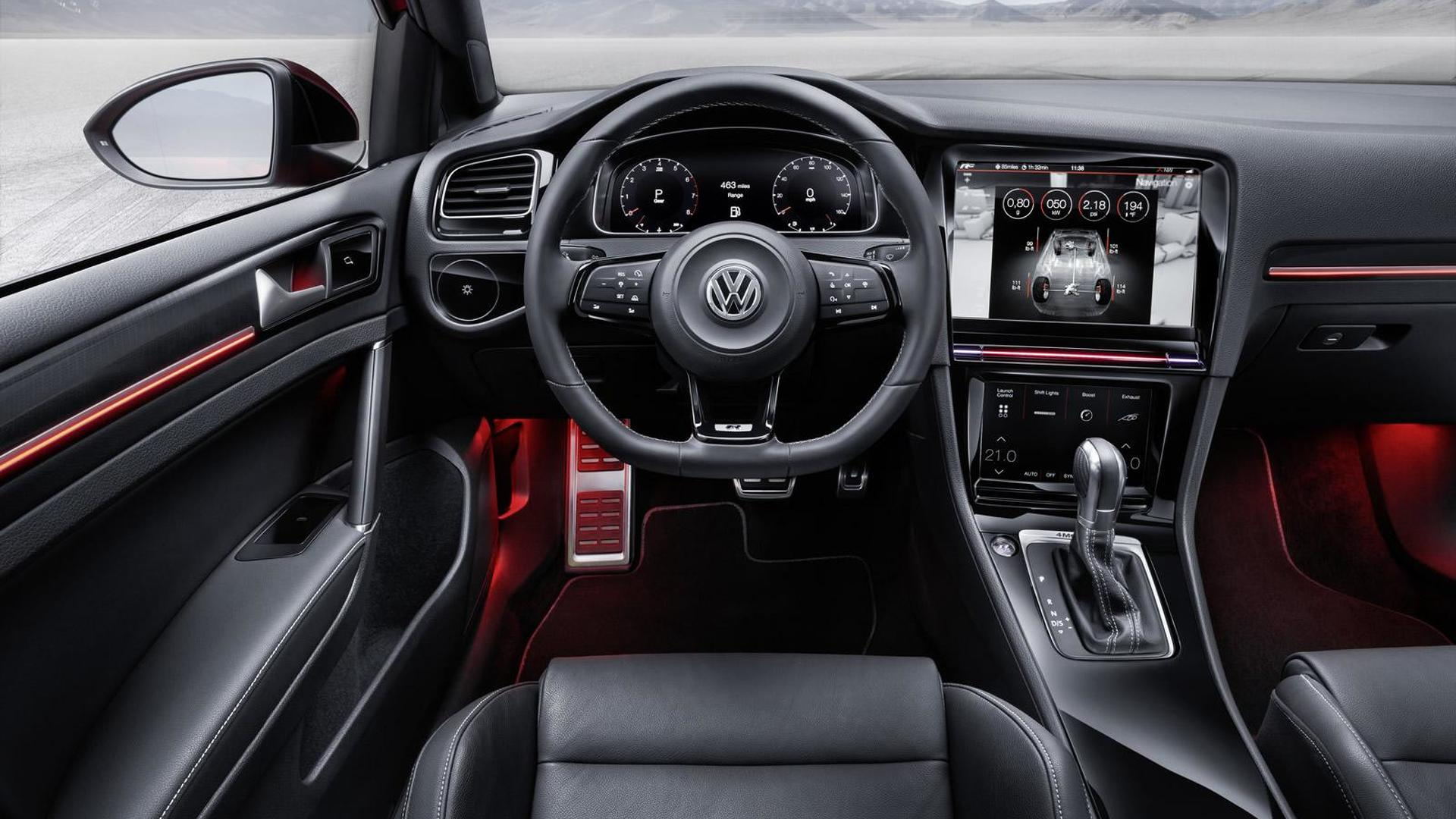 Салон будущего Volkswagen Golf R Touch