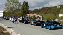 Eight Bugatti Veyrons