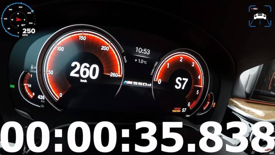 BMW M550d xDrive: así acelera el 'M5 de gasóleo'