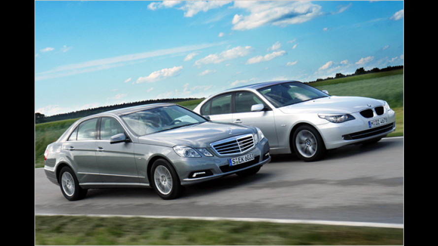 Vergleich BMW 520d, Mercedes E 220 CDI: Die Spar-Brenner