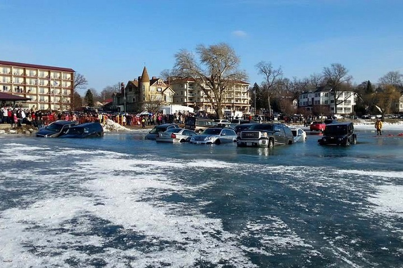 Watch Why You Shouldn't Park on a Frozen Lake