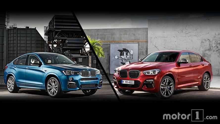 BMW X4 2018 frente a su antecesor: todos los cambios estéticos