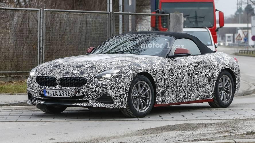 2018 BMW Z4 spied with less camo