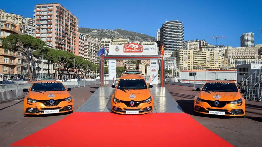 Quatre Mégane R.S. livrées l'Automobile Club de Monaco
