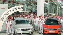 250k aluminum Audi at Neckarsulm