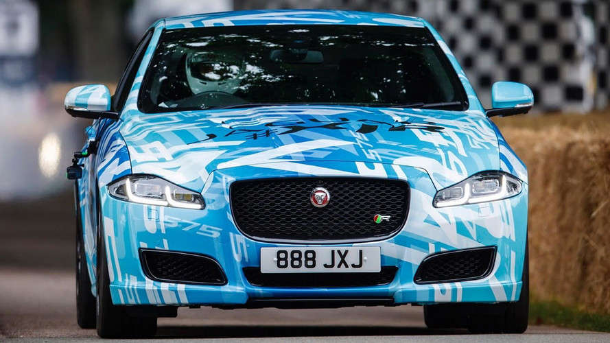 See The More Powerful Jaguar XJR In Action Up The Goodwood Hill