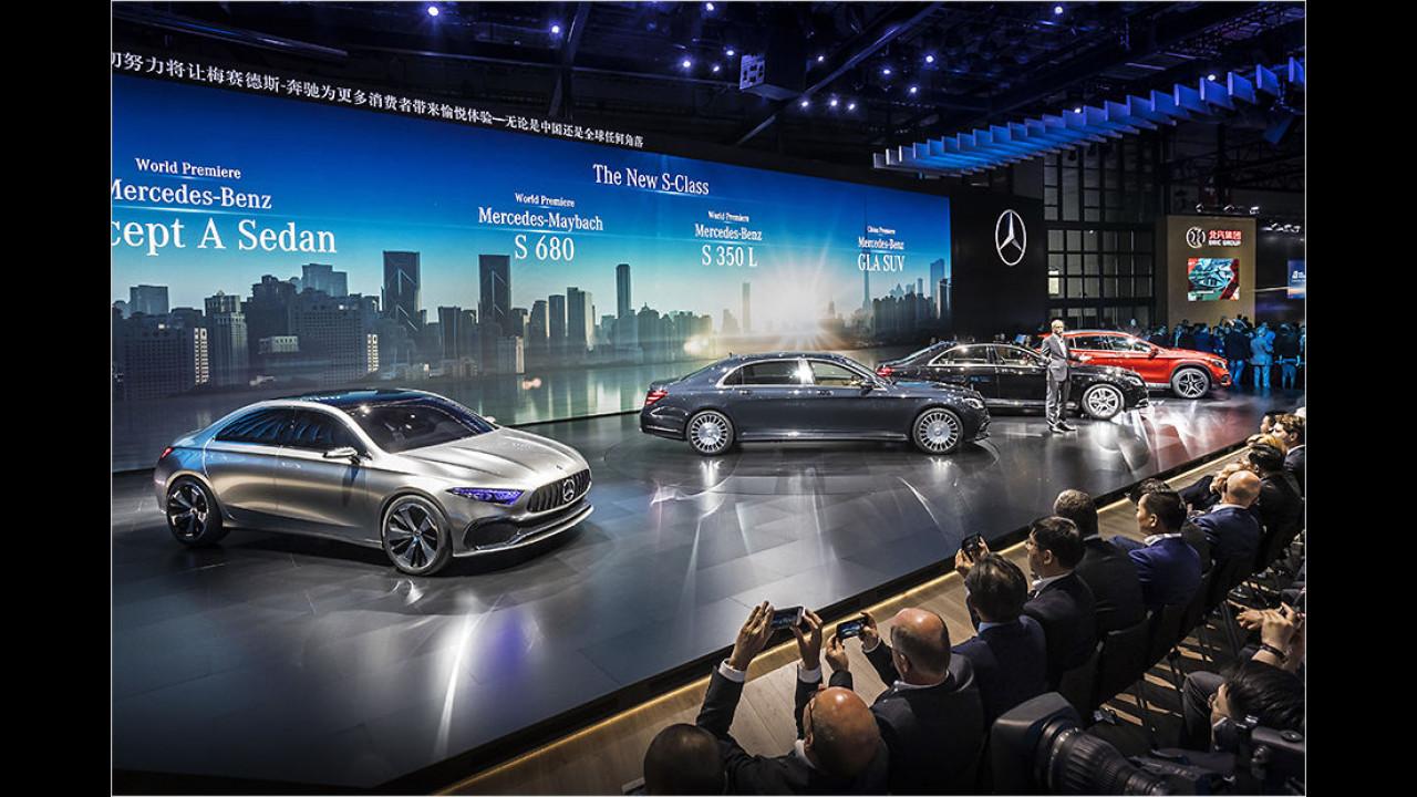Mercedes auf der Auto Shanghai 2017