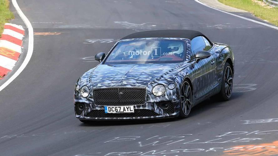 Bentley Continental GTC Nürburgring'de test edilirken yakalandı