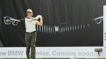 BMW 7 Series Teaser Poster Displayed at Golf Tournament