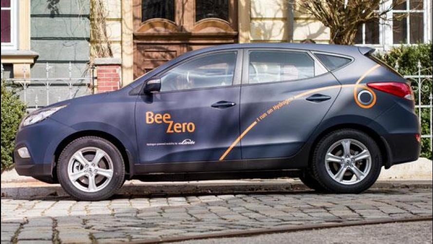 Hyundai BeeZero, il car sharing che va a idrogeno