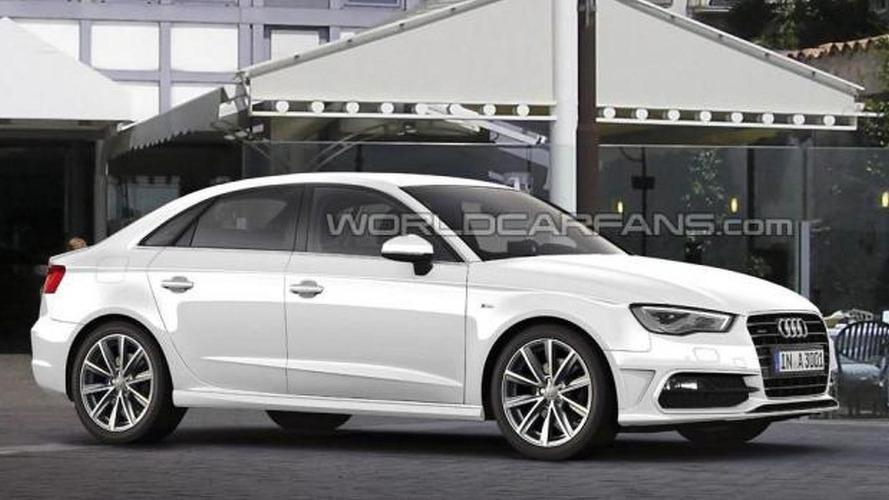 Audi A3 sedan rendered & speculated