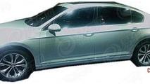2015 Volkswagen Magotan spied without camouflage, China's version of next-gen Passat