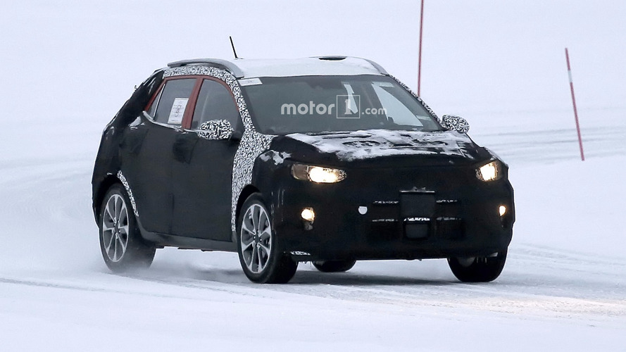 2018 Kia Stonic spied hiding production body