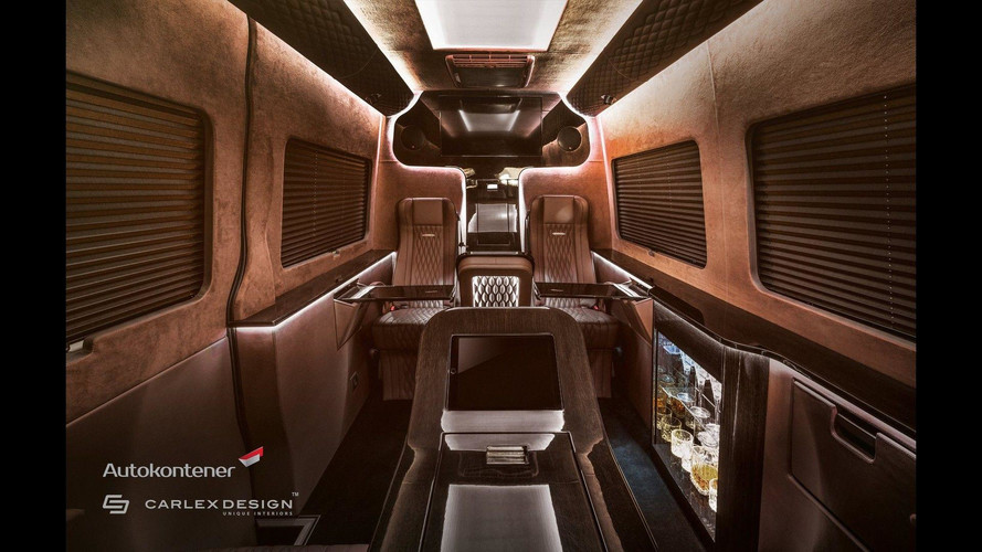 Enjoy A Cocktail In The Back Of This Swanky Mercedes Sprinter