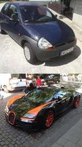 Ford Kia & Bugatti Veyron