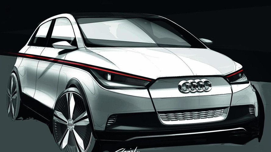 Audi A2 EV Concept previewed with deisgn sketches