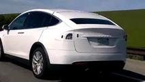 2016 Tesla Model X screenshot from spy video