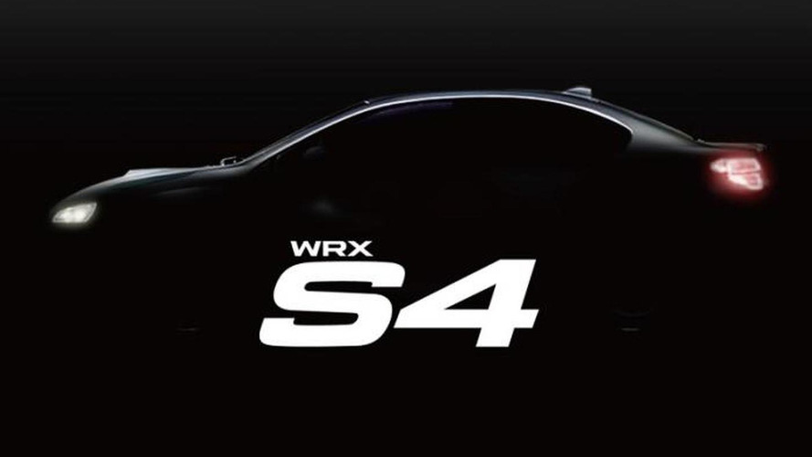 Subaru WRX S4 teased, to debut on August 25