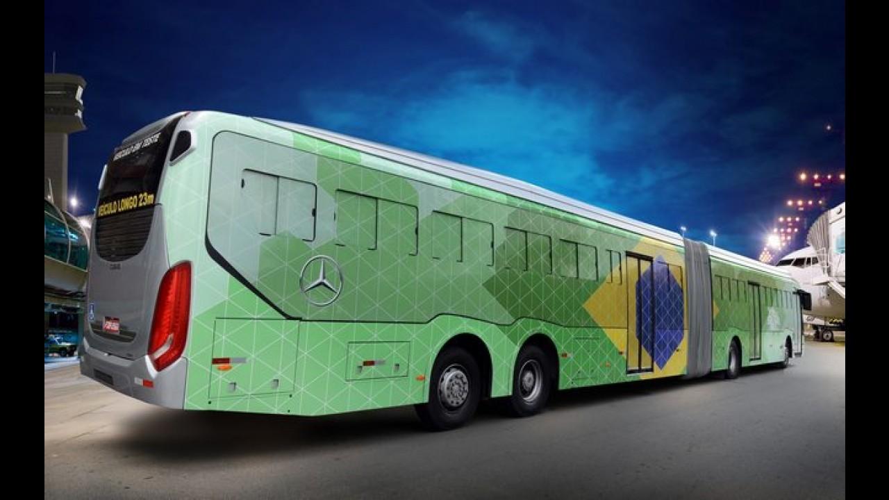 Mercedes-Benz vai usar busão gigante em aeroporto durante a Copa