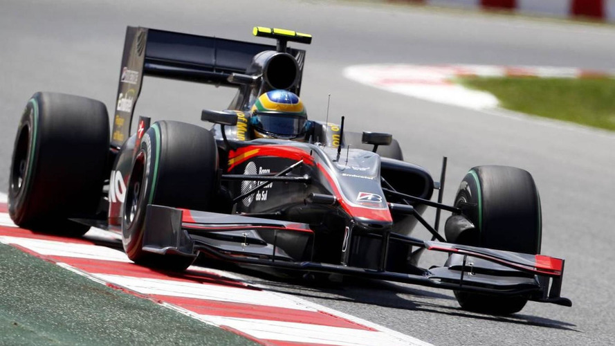 Senna says his HRT chassis damaged