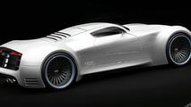 Audi R10 Supercar artists speculative rendering