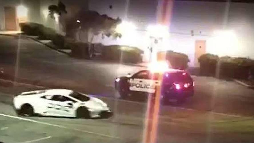 Polisten kaçan Lamborghini kameraya yakalandı