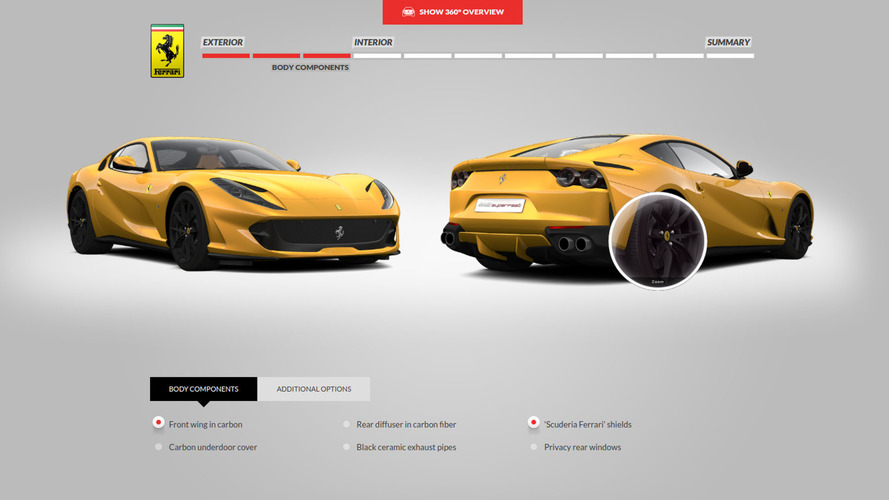 2018 ferrari 812 for sale.  ferrari ferrari 812 superfast configurator  in 2018 ferrari for sale