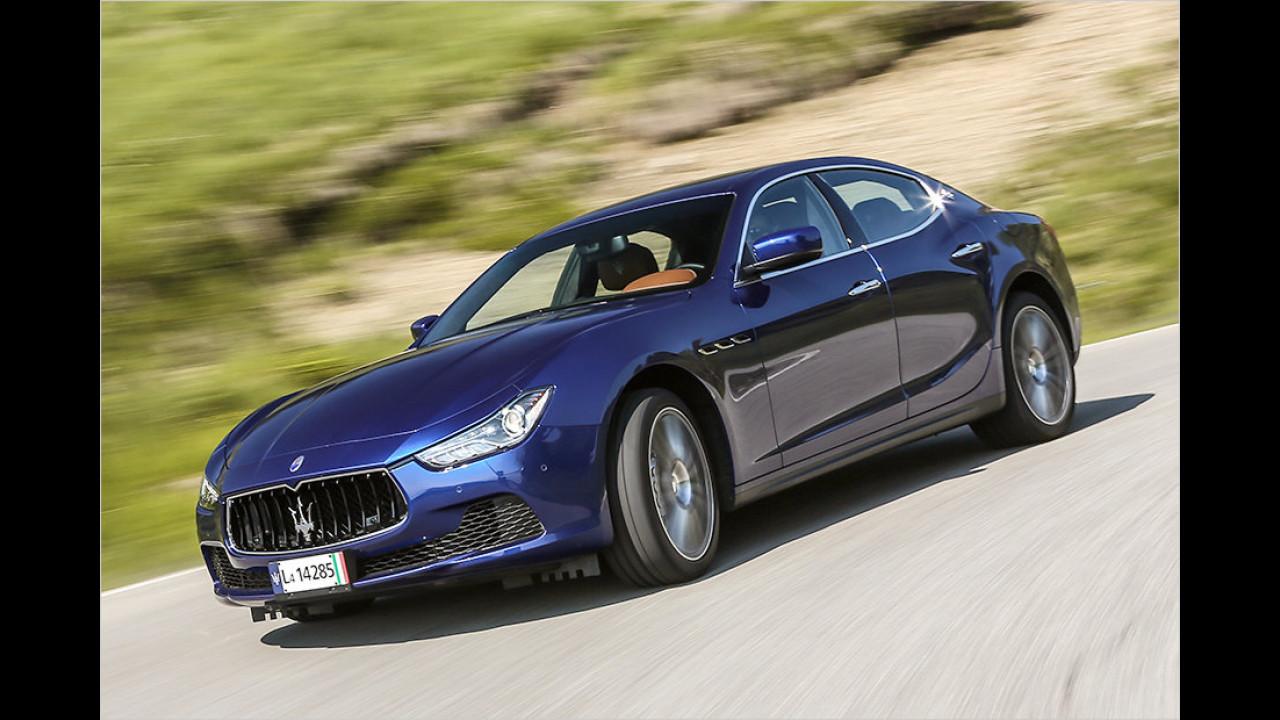 Oberklasse: Maserati Ghibli als zweitstärkster Verlierer
