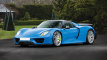 Only Arrow Blue Porsche 918 Spyder Auction