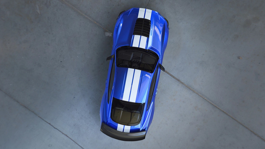 2020 Ford Mustang Shelby GT500 Teased From Above In New Rendering