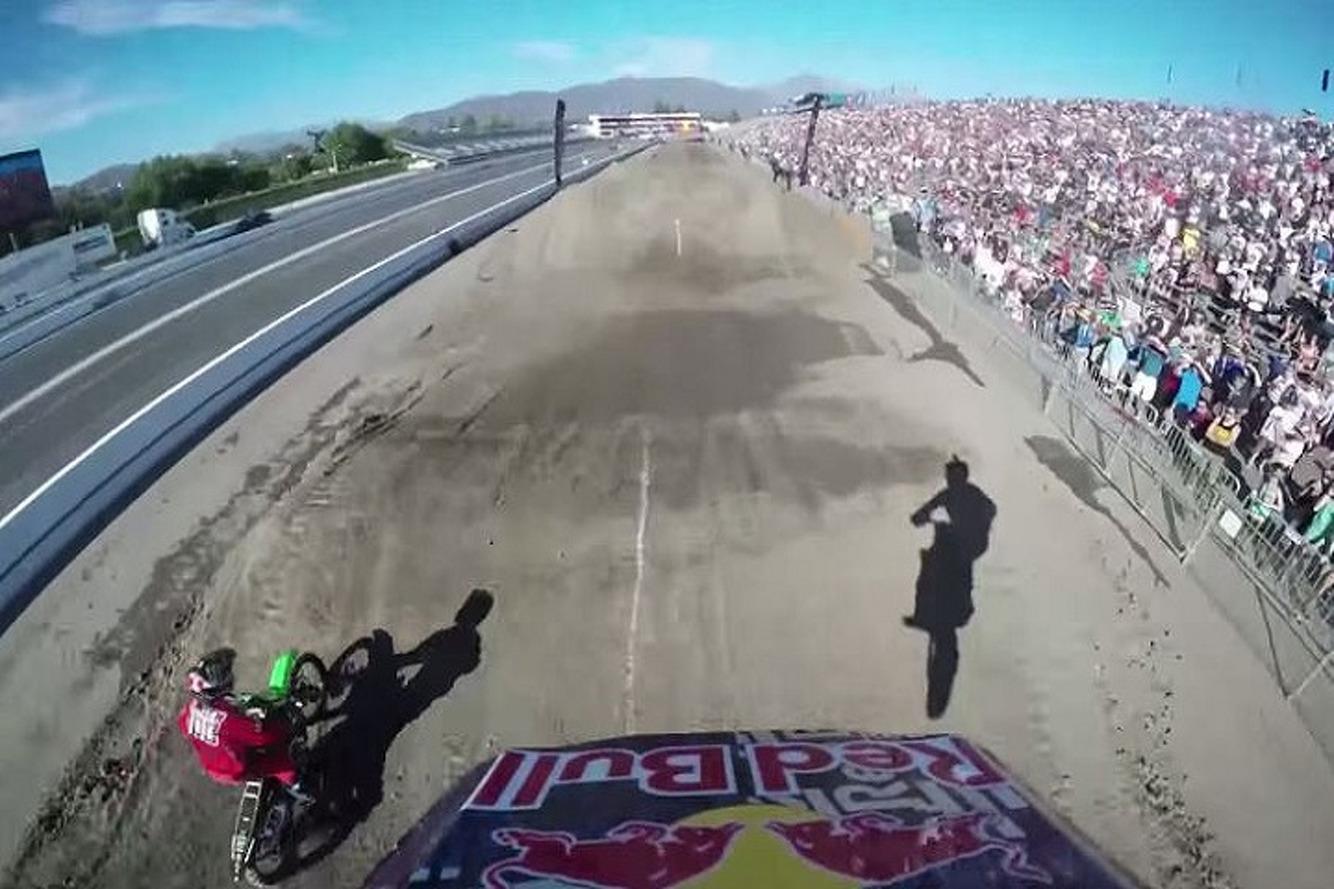 Watch Travis Pastrana's Incredible Dirt Bike Backflip from his POV