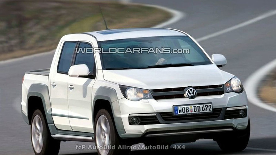 VW Robust Pickup Spied in U.S. Plus Rendering