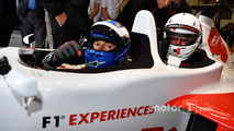 David Saelens, F1 Experiences 2-Seater Driver and Jonathan Noble, Journalist F1 Experiences 2-Seater passenger