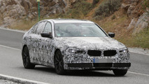 2017 BMW 5-Series spied with production headlights & digital instrument cluster