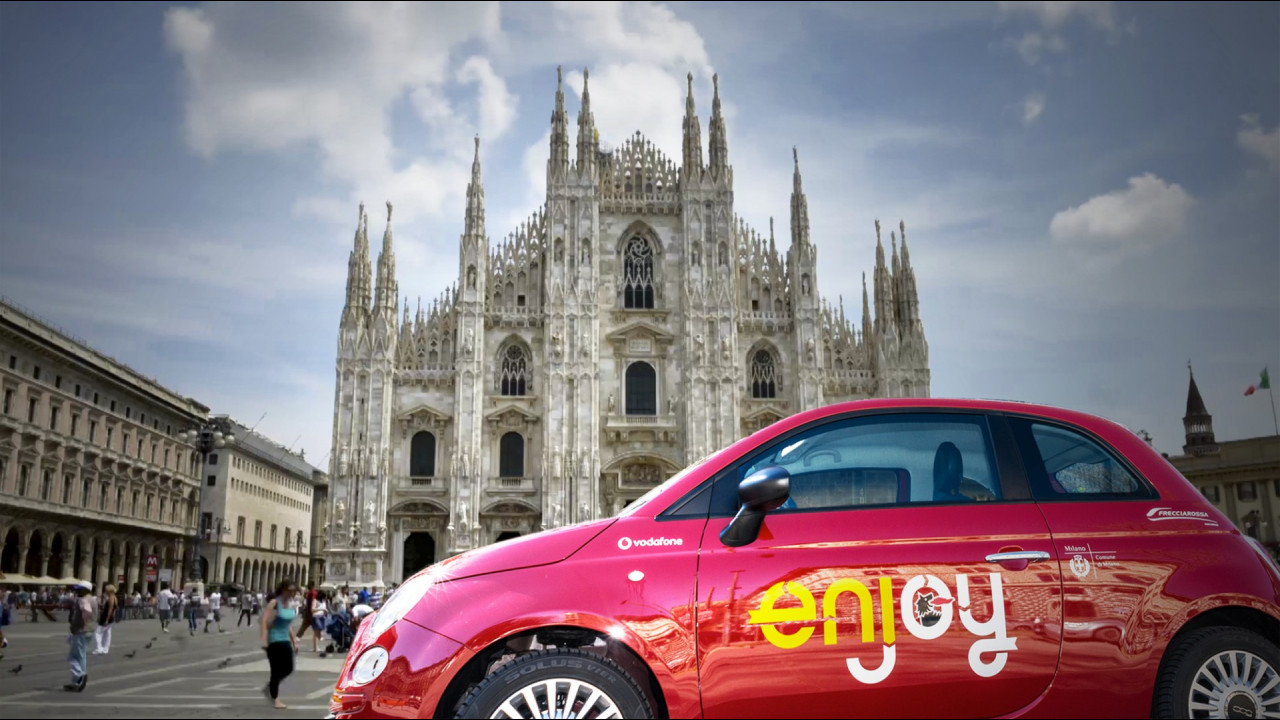 Enjoy, il car sharing di Eni e Fiat
