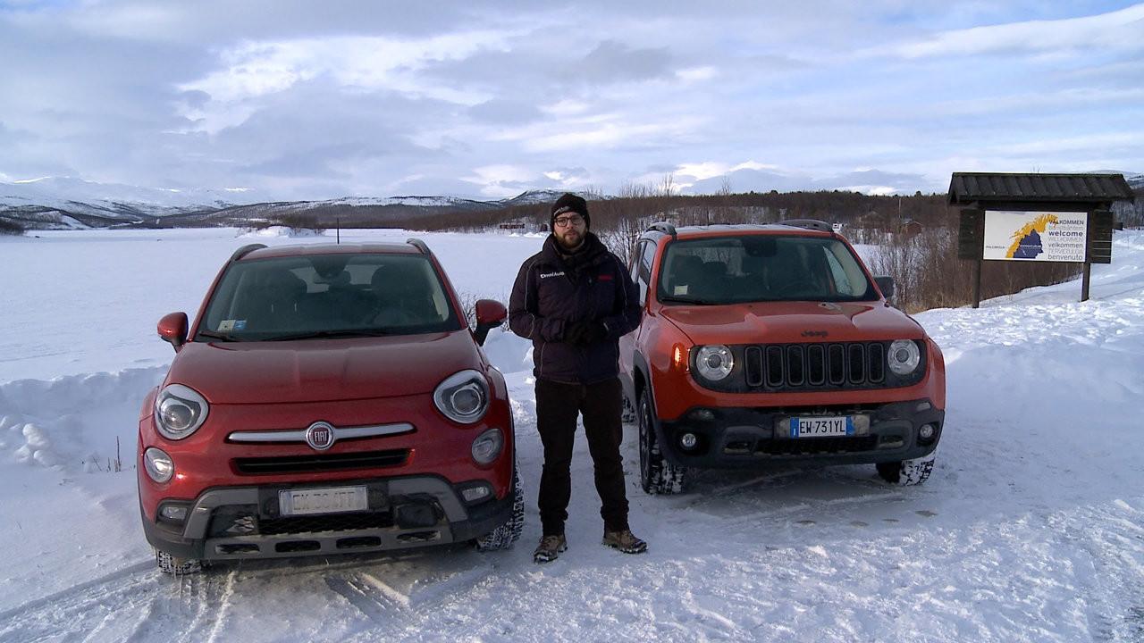 Fiat 500X e Jeep Renegade 4x4, La prova sui ghiacci svedesi