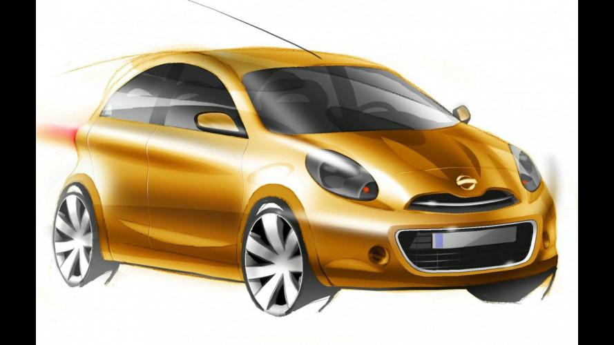 Nuova Nissan Micra: i primi bozzetti ufficiali