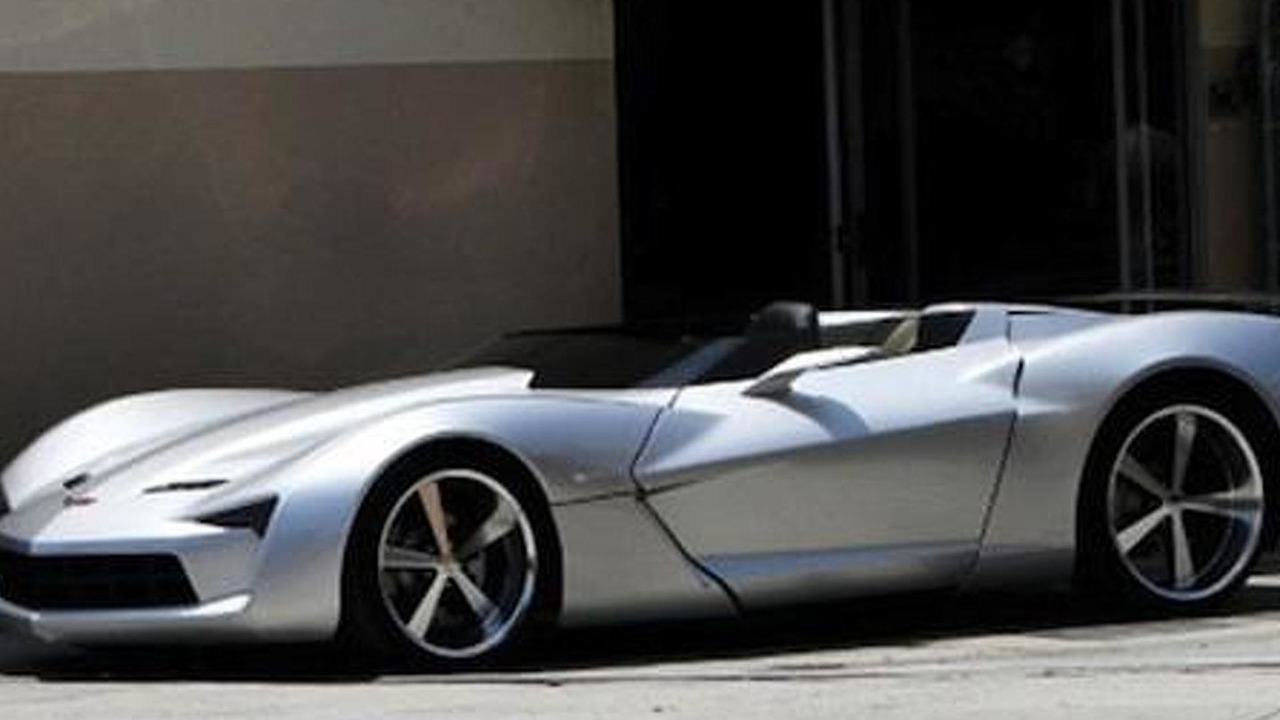 Spied Corvette Stingray Concept Goes Topless For