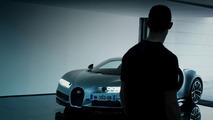Cristiano Ronaldo testando o Bugatti Chiron