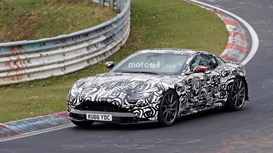 Next Aston Martin V8 Vantage Spied Sliding at the 'Ring
