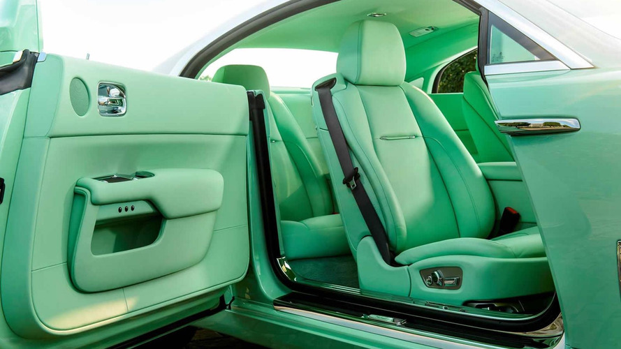 Rolls-Royce Wraith finished in lime green commissioned by Michael Fux
