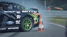 Vaughn Gittin Jr drifts the RTR Mustang in France