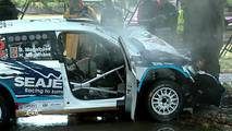 Skoda Fabia R5 Crash
