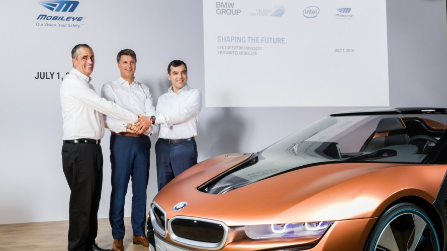 BMW, Intel ve Mobileye 2021'e kadar otonom sürüş yapabilen otomobil geliştirecekler