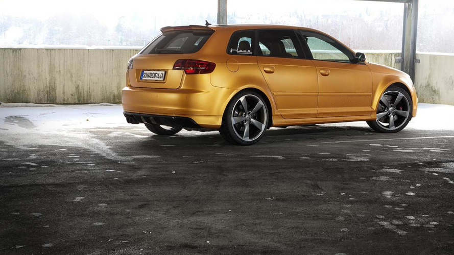 SchwabenFolia wraps 425 HP Audi RS3 Sportback in matte orange