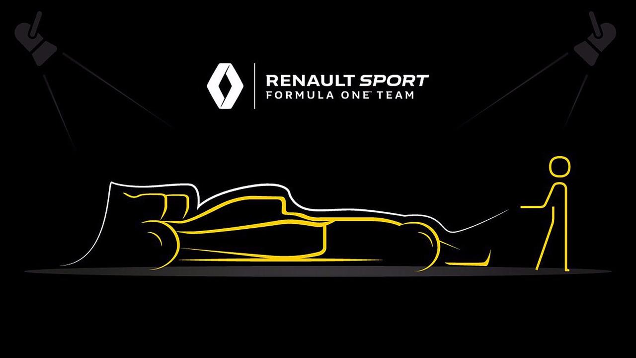 Teaser de Renault F1 Team pour la présentation de sa voiture 2017