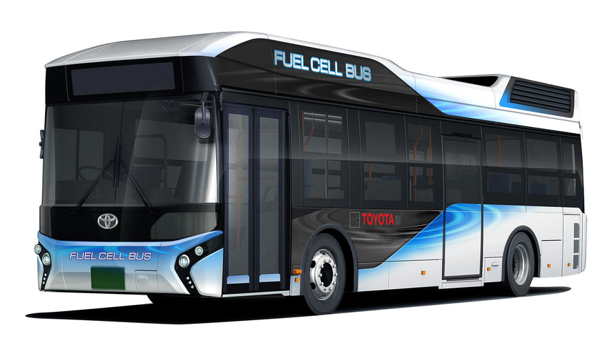 Toyota Fuel Cell Bus doubles as emergency power supply
