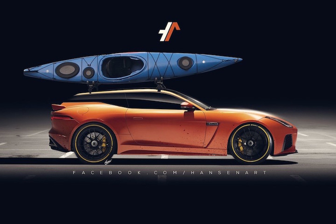Jaguar F-Type Sedan and Shooting Brake Concepts Look Glorious