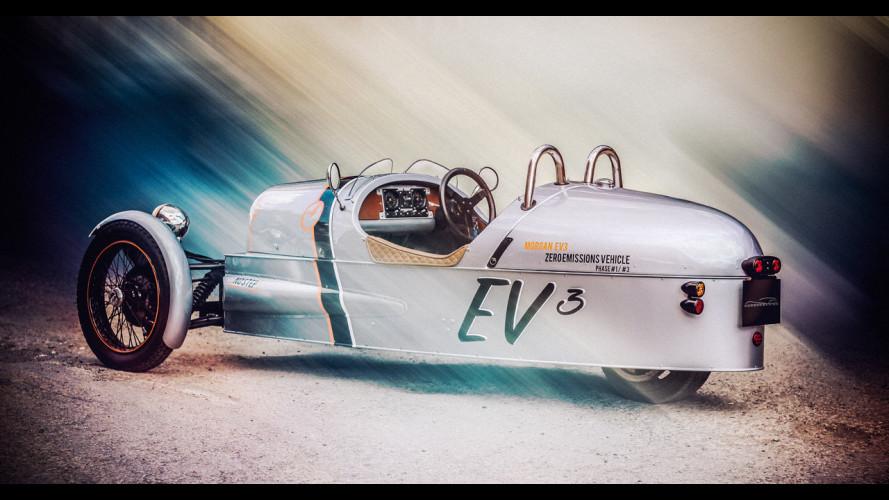 Morgan EV3, la tre ruote tutta elettrica